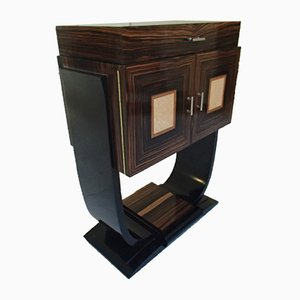 Art Deco Macassar Ebony Bar Cabinet with Maple Inlays, 1936