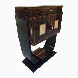 Mueble bar Art Déco de ébano Macassar con incrustaciones de madera de arce, 1936