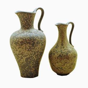 Jarrones Amphora de Gunnar Nylund para Rörstrand, años 50. Juego de 2