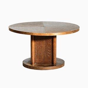 Table Basse Moderniste en Chêne, 1940s