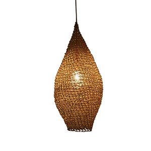 Lámpara colgante Drop grande de macramé en tono natural de BEST BEFORE