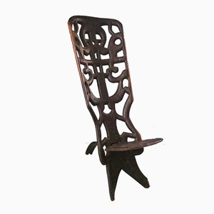 Vintage African Palaver Chair, 1940s