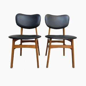 Vintage Esszimmerstühle aus Buche & Skai, 1960er, 2er Set