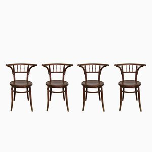 Antique Bentwood Chairs from Luterma, 1900s, Set of 4