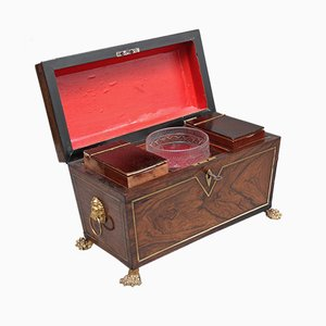 19th-Century Rosewood Tea Caddy