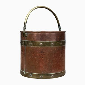 Antique Copper Coal Bin, 1890s