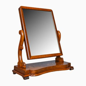 Antique Mahogany Platform Mirror, 1870s