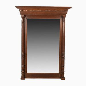Antique Walnut Mantel Mirror, 1880s