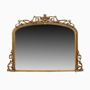 Antique English Regency Overmantel Mirror, 1820s