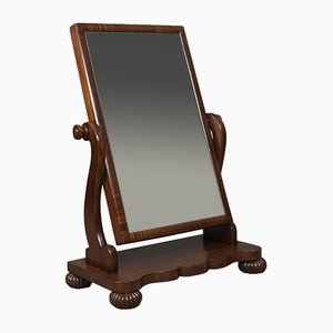 Large Antique Mahogany Mirror, 1860s