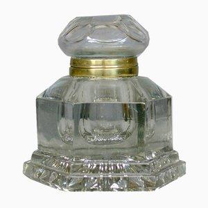 Tintero grande de cristal, década de 1850