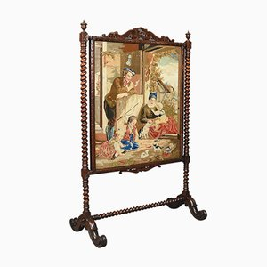 Large Antique Fire Screen, 1850s