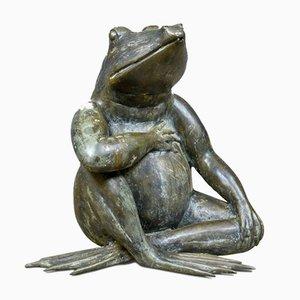 Ornamento da giardino grande vintage in bronzo