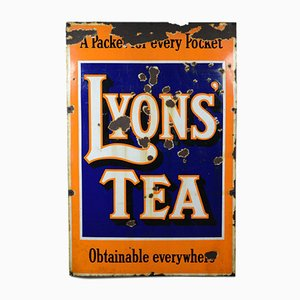 Large Lyons Tea Enamel Sign, 1950s