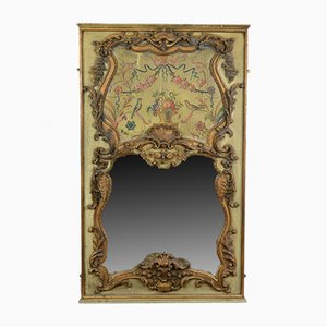 Large Vintage French Rococo Revival Wall Mirror