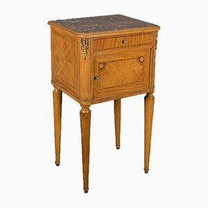 French Marble Top Bedside Cabinet, 1890s