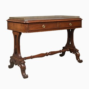 Early Victorian Antique Mahogany Desk, 1840s