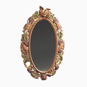 Vintage Carved Wall Mirror, 1930s