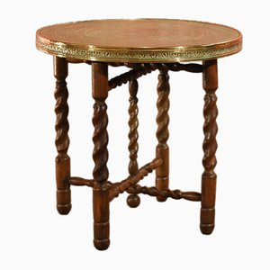 Table Basse Vintage en Laiton, 1930s