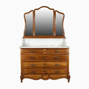 Antique French Vanity Chest of Drawers, 1880s