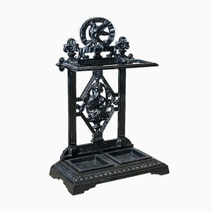 Victorian Cast Iron Umbrella or Stick Stand, 1890s