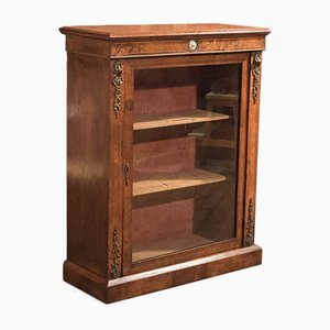 Antique French Walnut Pier Cabinet, 1880s