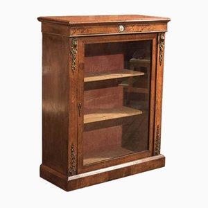 Antique French Walnut Pier Cabinet, 1880s