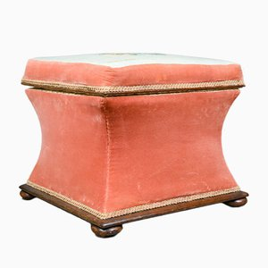 Antique Victorian Ottoman with Storage Space