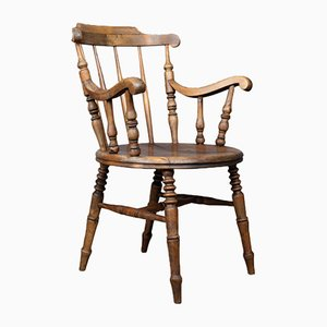 Antiker englischer Elbow Chair, 1900er