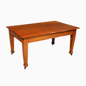 Antique English Oak Dining Table, 1910s