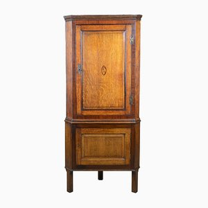 Antique Oak & Mahogany Corner Cabinet