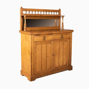 Antique English Oak Chiffonier, 1880s
