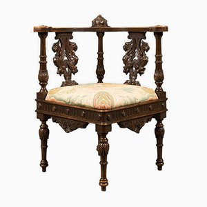 Antique Corner Armchair, 1870s