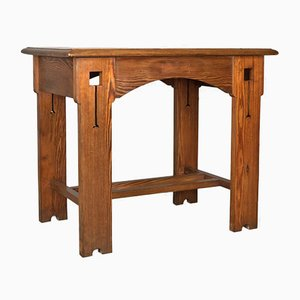 Antique Pine Console Table, 1880s