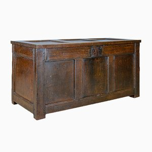 Antique Oak 3-Panel Trunk