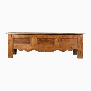 Antique French Oak Linen Chest, 1800s