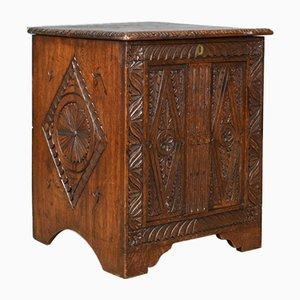 Jacobean Style Oak Coffer, 1880s