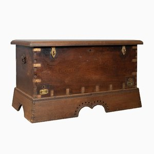 Antique Teak Dowry Chest