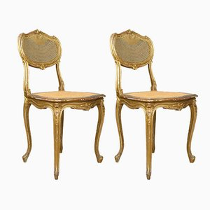 Antique Louis XV Revival Salon Chairs, 1900s, Set of 2