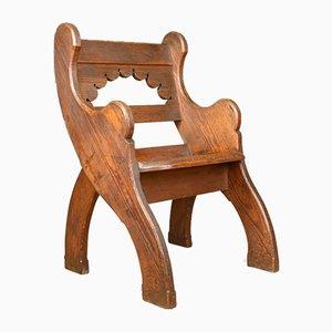 Victorian English Pine Hall Chair, 1880s