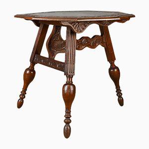 Antique Dutch Oak Folding Table, 1880s
