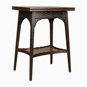 Antiker englischer Spieltisch mit umklappbarer Tischplatte von Edwards & Roberts, 1880er