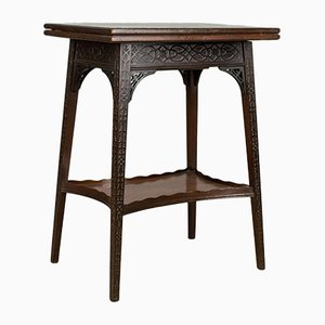 Antique English Fold-Over Game Table from Edwards & Roberts, 1880s