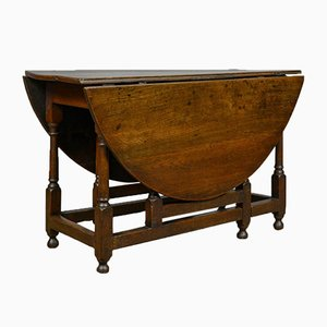 Antique English Oak Gate Leg Table, 1800s