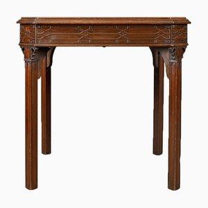 Mesa de juegos inglesa georgiana antigua, década de 1800