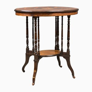 Antique English Rosewood Side Table, 1880s