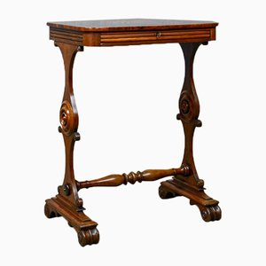 Antique William IV English Mahogany Side Table, 1830s