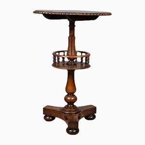 Antique English Rosewood & Walnut Side Table, 1860s