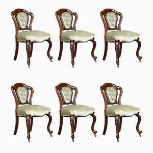 Chaises de Salle à Manger Antique en Acajou, Set de 6
