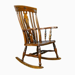 Antique Edwardian Rocking Chair, 1910s